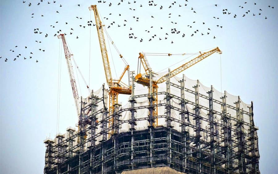 Услуги в сфере строительного бизнеса на портале Дия
